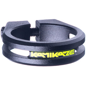 Sixpack Kamikaze Collier de selle Ø34,9mm, black/neon yellow